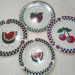 Other - Set of 3 Plates and 1 Bowl TABLETOPS UNLIMITED